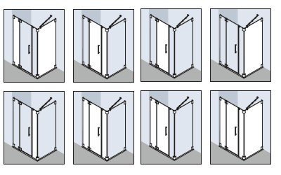 Примеры зеркальных вставок стекол в душевых ограждениях Kermi