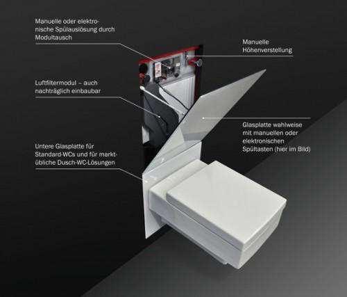 инновационный модуль для подвесного унитаза TeceLux