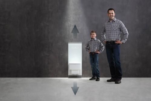 TeceLux инсталляция для подвесного унитаза с монтажом унитаза на разные высоты